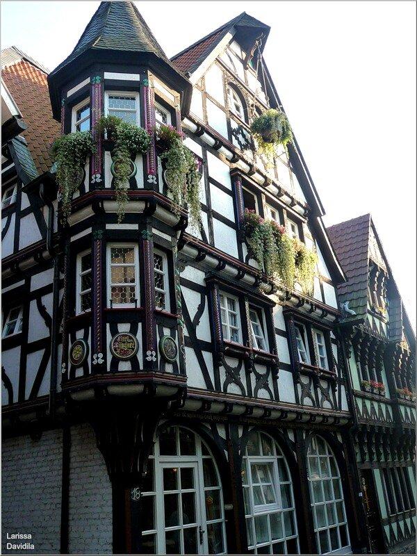 Германия. Фото фахверкового дома