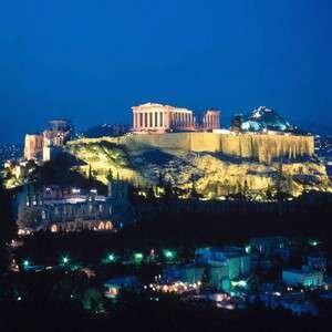 Фото Парфенона ночью. Греция