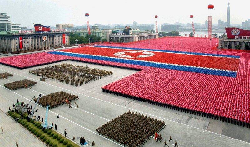 Северная Корея. Парад