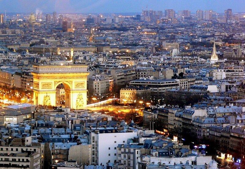 Панорамный вид на Триумфальную Арку